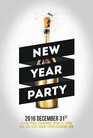 New Year Flyers Template Minimal New Year Party Flyer Template