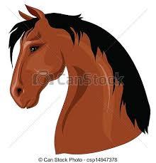 horse head clip art color. Contemporary Color Head Of Brown Horse  Csp14947378 With Horse Clip Art Color R