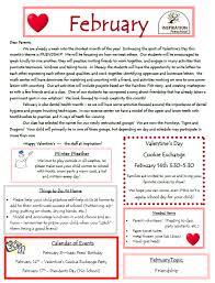February Newsletter Template Preschool Newsletter February February 2014 Newsletter
