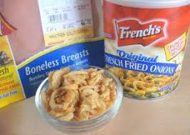 french s fried onions chicken.  Onions Todayu0027s Recipe Is Based On Coating Boneless Chicken Breasts With Frenchfried  Onions From A Can And Then The Baked In Oven For French S Fried Onions Chicken