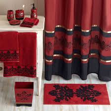 better homes and gardens red scroll decorative collection bath rug