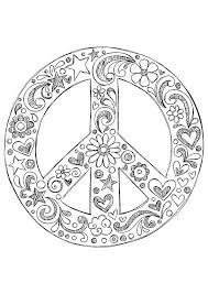 Small Picture Free Printable Peace Sign Coloring Pages httpwww