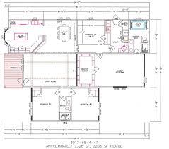 Nice 4 Bedroom Trailer Floor Plans Modular Home 4 Bedroom Double Wide Floor Plans  With Basement