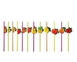 Henbrandt 36 x Cocktail <b>Drinking</b> Flexible 3D <b>Fruit Straws</b>: Amazon ...