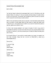 faculty letter of recommendation sample letter of recommendation 20 free documents