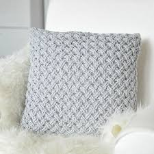 Crochet Pillow Patterns Adorable Crochet Pillow Made With Light Grey Yarn Craftsy Crochet Knit