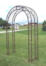 Small Picture Wrought Iron Scroll Arbor Garden Art Back Yard Trellis Metal