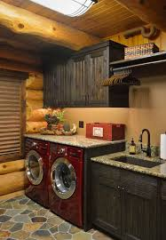 cabin lighting ideas. rustic laundry room ideas with log cabin lighting reclaimed wood red washer dryer i