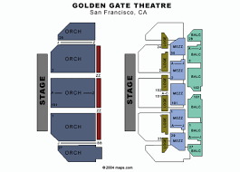 Golden State Theater Seating Chart Golden Gate Theatre San Francisco Tickets Schedule