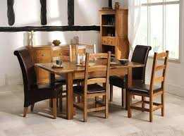 collection chicago round solid wood dining table 4 chairs kitchen oak french extending and furniture exciting