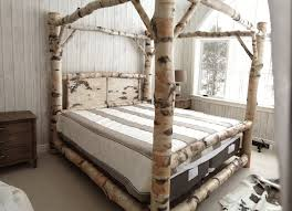 Rustic Full Size Canopy Bed Frame — Bed and Shower : Full Size ...