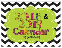 School Calendar 2015 2019 Template 2018 And 2019 Editable Calendar Pdf Version