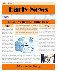 Newspaper Layout On Word Editable Free News Paper Template Format Ms Word Newspaper