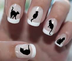51 DECALS Black Cat Familiar Symbols - Nail WRAPS Nail Art Water ...
