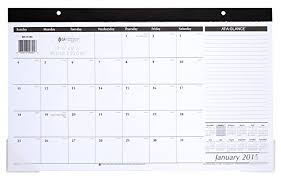 At A Glance Compact Monthly Desk Pad Calendar 2015 17 75 X Import