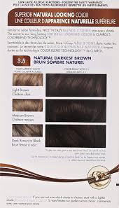 Clairol Nice N Easy Hair Color 121a 3 5 Natural Darkest