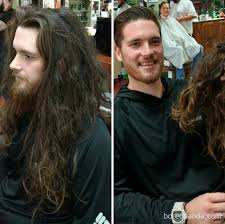 before and after a haircut