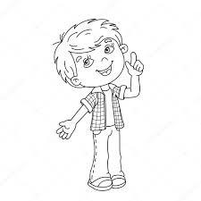 Kleurplaat Paginaoverzicht Van Cartoon Jongen Met Geweldig Idee