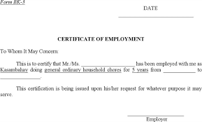 Employment Separation Certificate Form Amazing Download Employment Certificates For Free TidyTemplates