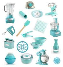 Aqua Blue Kitchen Accessories