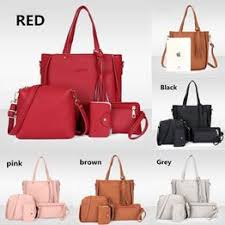 4Pcs/Set Leather Bags Fashion Women Tassel Handbags ... - Vova