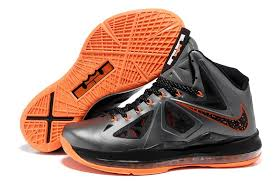 lebron mens. wholesale nike lebron james 10 x charcoal total orange black mens shoes w
