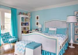 Unique Blue Bedroom Decorating Ideas For Teenage Girls With Light And Throughout Simple