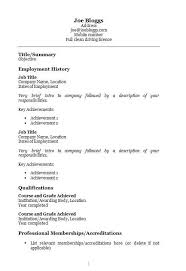 Simple Resume Template Microsoft Word Free Resume Templates In Microsoft Word Doc Docx Format