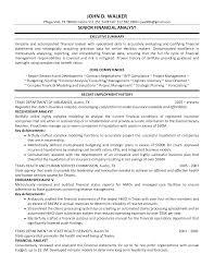 Senior Financial Analyst Resume Examples Best Financial Analyst Resume Example Unique Senior Financial 2