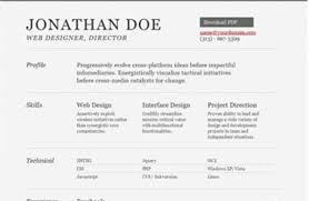 html resume example