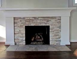 image result for fireplace stone or tile ideas