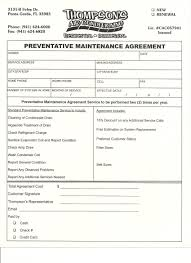Maintenance Agreement Maintenance Agreement Thompson's Air Conditioning Port Charlotte 1