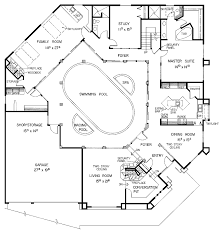 Floor Plan House Plans With Pool U Shaped Courtyard Floor Plan In