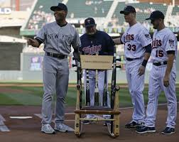 mariano rivera receives chair of broken dreams from minnesota twins nj com