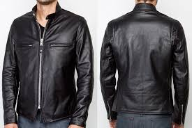 schott nyc cafe racer jacket in black