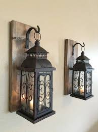 country decor wall sconces wall sconce wooden sconcesset of two sconces bathroom decor home designs