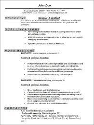 Resume For Medical Assistant Musiccityspiritsandcocktail Com