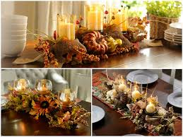 table decorating-fall centerpieces