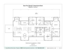 Barn Plans With Living Quarters 5 Stalls  3 Bedrooms Design FPBarn Plans With Living Quarters Floor Plans