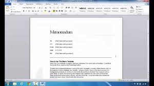 how to create a memo in microsoft word  how to create a memo in microsoft word 2010