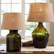 clift glass table lamp base green contemporary lamp