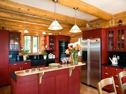 kitchen cabinets painted barn red rustic paint for color distressed oak