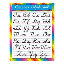 Buy Trend Enterprises Chart Cursive Alphabet Modern Set Of