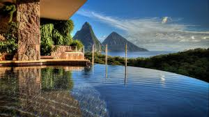 infinity pool singapore wallpaper. Other - Infinity Pool Resort Paradise Beautiful View St Lucia Island Caribbean West Indies Landscape Mountain Singapore Wallpaper