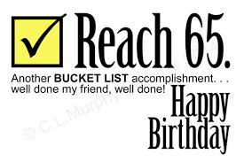 Download 65th Birthday Turning 65 Bucket List Birthday Friend