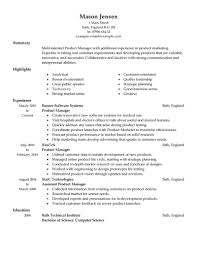 Product Manager Resume Sample Essayscope Com