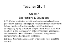 2 teacher stuff grade 7 expressions equations 7 ee 3 solve multi step real life and mathematical problems posed with positive and negative rational