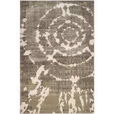 porcello grey ivory 6 ft x 9 ft area rug