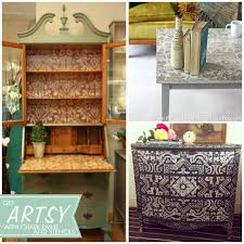 cool painted furniture. cool painted and stenciled furniture projects with chalk paint via pattern