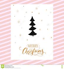Merry Christmas Card Design With Calligraphy And Simple Hand